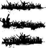 Muchedumbres del partido de Grunge Imagen de archivo libre de regalías