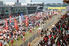 Muchedumbres en el acontecimiento 2010 de SuperGT Imagenes de archivo