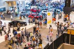 Muchedumbres en el salón del automóvil 2017 de Chicago fotografía de archivo libre de regalías