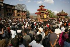 Muchedumbres en Nepal Imagen de archivo