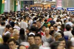 Muchedumbres enormes de gente Imagen de archivo