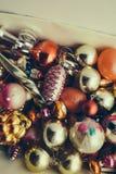 Mucho árbol de abeto de la Navidad hermosa o del Año Nuevo Imagen de archivo