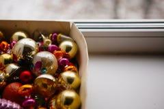 Mucho árbol de abeto de la Navidad hermosa o del Año Nuevo Foto de archivo libre de regalías