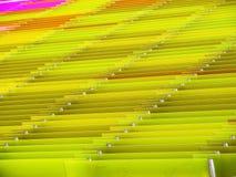 mucho amarillo del exterior al aire libre interior de las hojas de acrílico Foto de archivo libre de regalías