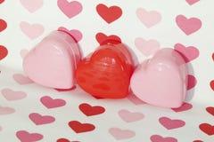 Mucho amor Valentine Hearts Foto de archivo