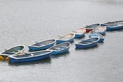 Mucho barco en el río Imágenes de archivo libres de regalías