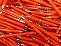Mucho bolígrafo rojo Fotos de archivo libres de regalías