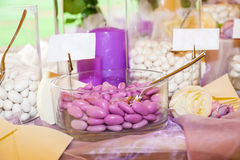 Caramelo de la boda imagenes de archivo