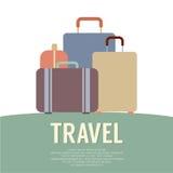 Mucho concepto del viaje del equipaje Imagen de archivo libre de regalías