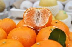 Mucho conjunto anaranjado Imagen de archivo