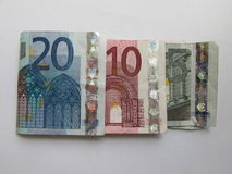 Mucho dinero europeo Foto de archivo