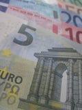 Mucho dinero europeo Foto de archivo libre de regalías