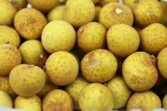Mucho fruta fresca del Longan Fotos de archivo libres de regalías