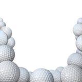 Mucho Golfballs como golf se divierte el espacio de la copia de la frontera stock de ilustración