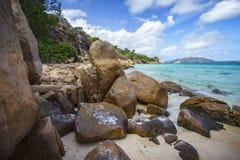 Mucho granito oscila en una costa en las Seychelles 34 Fotografía de archivo libre de regalías