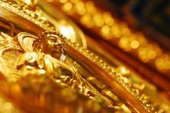 Mucho imagen de Buda del oro en Wat Pho Temple Thailand para la adoración y el viaje que sorprenden tan Foto de archivo