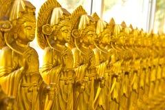 Mucho imagen de Buda en la pared Foto de archivo libre de regalías