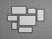 Mucho marco en blanco Fotos de archivo