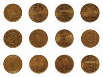 Mucho moneda de 20 centavos, unión europea Imágenes de archivo libres de regalías