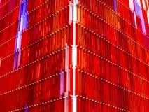 Mucho rojo del exterior al aire libre interior de las hojas de acrílico Imagenes de archivo
