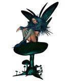 muchomoru czarodziejski siedzący turkus Zdjęcie Royalty Free