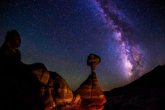 Muchomory, Uroczysty Escalante Krajowy zabytek fotografia stock