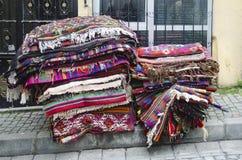 Muchos adornos se utilizan en kilims turcos Fotos de archivo libres de regalías