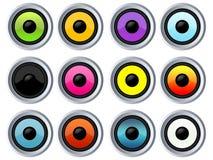 Muchos altavoces coloridos libre illustration