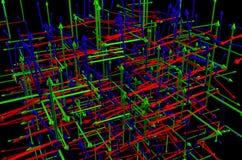 Muchos axises del coordenada 3d Imagen de archivo libre de regalías