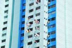 Muchos balcones de un edificio Imágenes de archivo libres de regalías