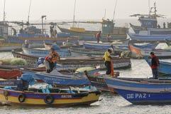Muchos barcos Foto de archivo