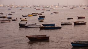Muchos barcos en el mar Fotos de archivo libres de regalías