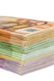 Muchos billetes de banco euro Imagen de archivo libre de regalías