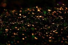 Muchos borrosos reflejo de luz del bokeh en leavesn de la planta fotos de archivo libres de regalías