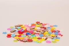 Muchos botones coloreados Foto de archivo libre de regalías