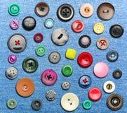 Muchos botones coloridos stock de ilustración