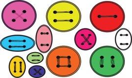 Muchos botones varicoloured Imagenes de archivo