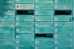 Muchos buzones viejos Imagen de archivo libre de regalías