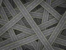 Muchos caminos ilustración del vector