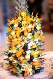 Muchos canapes de frutas exóticas Foto de archivo libre de regalías