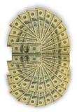 Muchos cientos billetes de banco Imagen de archivo libre de regalías