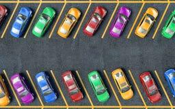 Muchos coches parqueados Imágenes de archivo libres de regalías