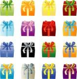 Muchos colorean Giftboxes Fotografía de archivo libre de regalías