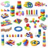 Muchos colorean los juguetes de los niños Fotografía de archivo