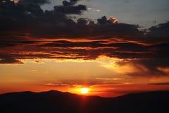 Muchos colorearon el cielo Foto de archivo libre de regalías