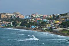 Muchos colores de San Juan Puerto Rico Fotos de archivo libres de regalías