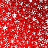 Muchos copos de nieve Ilustración del Vector