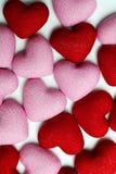 Muchos corazones Imágenes de archivo libres de regalías