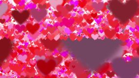 Muchos corazones del vuelo en el fondo blanco libre illustration