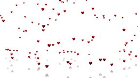 Muchos corazones rojos minúsculos stock de ilustración